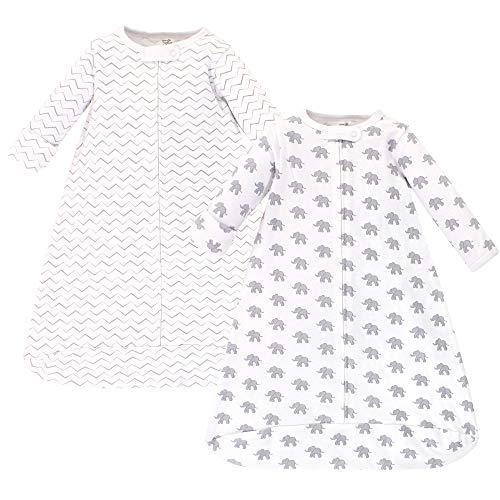 Unisex Baby Organic Cotton Long-Sleeve Wearable Sleeping Bag, Sack, Blanket